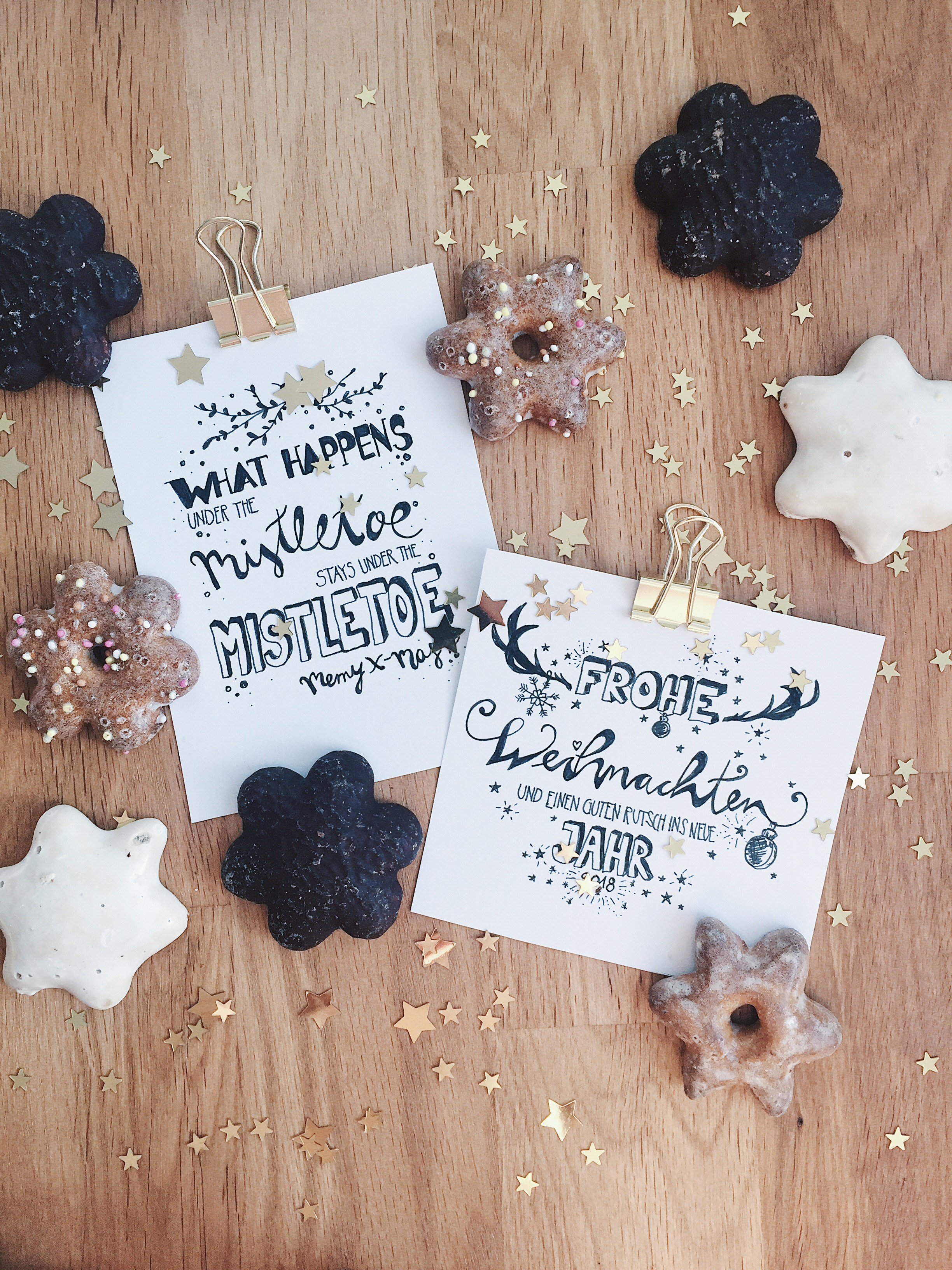 Weihnachtskarten selber machen: Handlettering ...