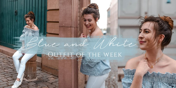 Blue & White #OUTFITOFTHEWEEK by NA-KD Fashion